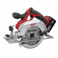 Milwaukee® 2630-22 M18™ Cordless Circular Saw Kit, 6-1/2 in Dia Blade, 5/8 in Arbor/Shank, 18 VDC, Lithium-Ion Battery