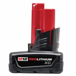 Milwaukee® 48-11-2402 M12™ Rechargeable Cordless Battery Pack, 3 Ah Li-Ion Battery, 12 VDC, For Use With Milwaukee® M12™ Cordless Power Tools, Bare Tool