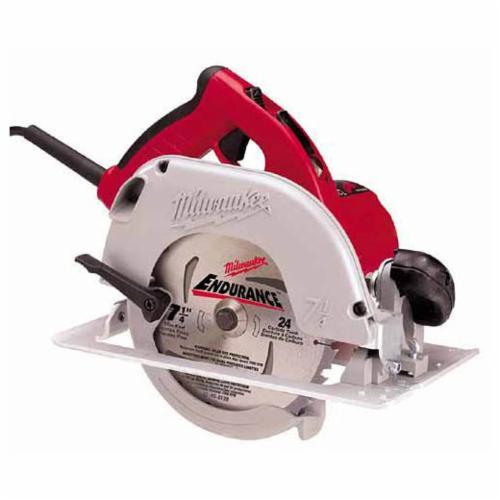 Milwaukee® 6390-20 TILT-LOK™ Corded Circular Saw, 7-1/4 in Dia Blade, 5/8 in Arbor/Shank, 1-13/16 in at 45 deg, 1-11/16 in at 50 deg, 2-7/16 in at 90 deg Cutting, Right Blade Side, Bare Tool