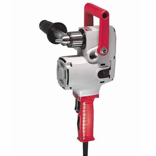 Milwaukee® 1675-6 HOLE HAWG® Grounded Heavy Duty Right Angle Drill, 1/2 in Keyed Chuck, 120 VAC, 300 to 1200 rpm, 6-1/2 in OAL, Bare Tool