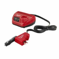 Milwaukee® 2510-20 M12™ AC/DC Wall and Vehicle Charger, For Use With M12™ REDLITHIUM™ and M12™ Lithium-Ion Batteries, Lithium-Ion Battery, 40 to 80 min Charging Time, 1 Batteries, Bare Tool