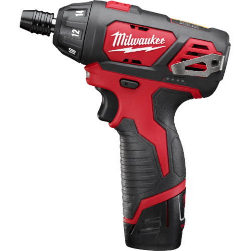 Milwaukee® 2401-22 M12™ Compact Lightweight Cordless Screwdriver Kit, 1/4 in Chuck, 175 in-lb, 12 VDC, Lithium-Ion Battery, Metal Housing