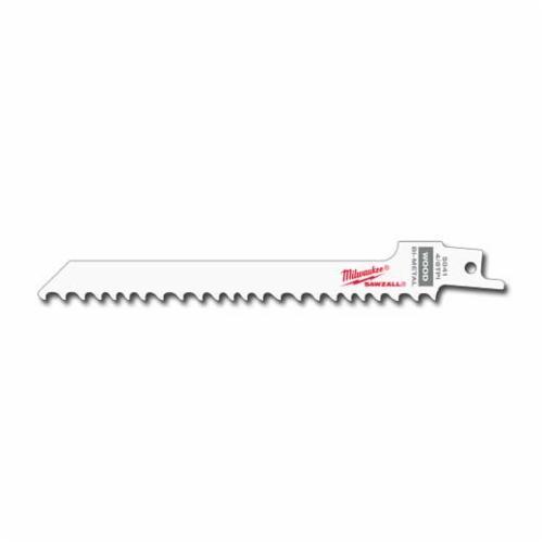 Milwaukee® 48-00-5041 SAWZALL® Tapered Back Reciprocating Saw Blade, 6 in L x 1/2 in W, 4/16 TPI, Bi-Metal Body, Universal Tang