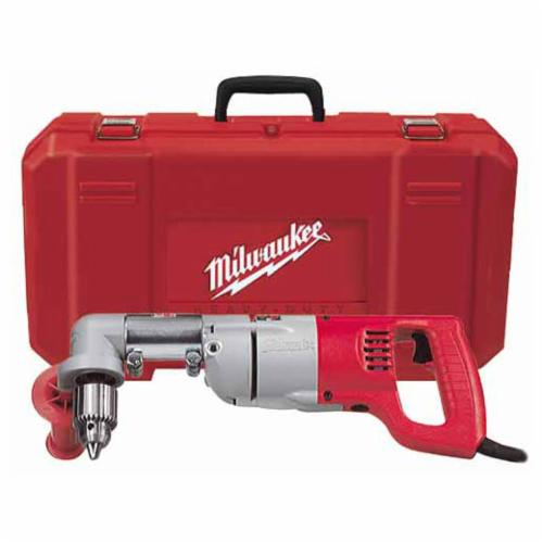 Milwaukee® 3002-1 Grounded Right Angle Drill Kit, 1/2 in Keyed Chuck, 763 in-lb Torque, 120 VAC