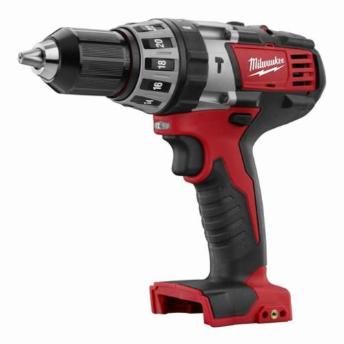 Milwaukee® M18™ 2602-20 Cordless Hammer Drill, 1/2 in Single Sleeve Chuck, 550 in-lb Torque, 18 VDC, Lithium-Ion Battery