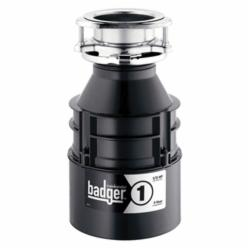 Insinkerator® 76039H Badger® 1 Continuous Feed Garbage Disposal Without Cord, 1-1/2 in Drain, 1/3 hp, 120 VAC, 1725 rpm Grinding, 26 oz Grinding Chamber, Domestic