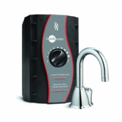 Insinkerator® 44887 invite™ Series H-HOT100™ Instant Hot Water Dispenser, 2/3 gal, 1/4 in Water, Deck Mount, Chrome Plated
