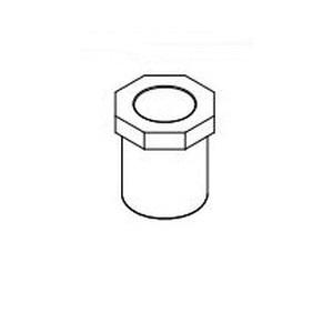 IPEX Corzan® 059629 Pipe Reducer Bushing, 2-1/2 x 1-1/2 in, Spigot x Socket, SCH 80/XH, CPVC