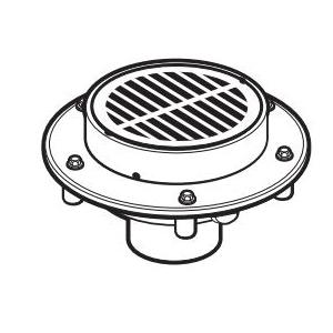 IPEX Endura® 384751 Floor Drain, 4 in, Hub, PVC Drain