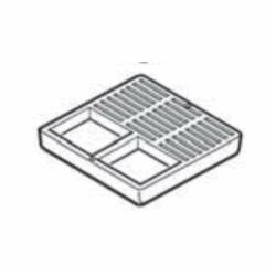 IPEX 394712C Half Floor Sink Grate, For Use With Floor Sink, 12 in Nominal, PVC, White