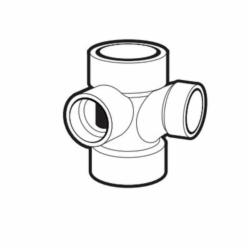 IPEX 102148L DWV Sanitary Tee With Left Side Inlet, 3 x 3 x 3 x 2 in, Hub, ABS