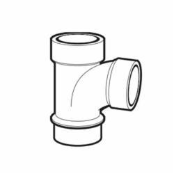 IPEX 105151L DWV Street Sanitary Tee, 1-1/2 in, Spigot x Hub x Hub, ABS