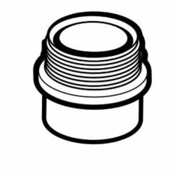 IPEX 102802 DWV Fitting Trap Adapter Without Washer and Nut, 2 in, Spigot x MNPT, ABS