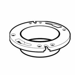 IPEX 103603 1-Piece DWV Closet Flange, 4 in Pipe, ABS