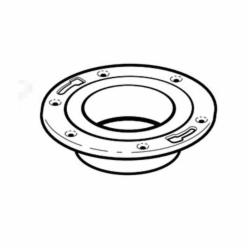 IPEX 103616M Adjustable DWV Closet Flange With Adjustable Metal Ring, 4 x 3 in Pipe, ABS
