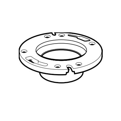 IPEX 103633 1-Piece DWV Closet Flange, 4 x 3 in Pipe, ABS