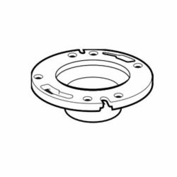 IPEX 103633-1 1-Piece DWV Closet Flange With Slot, 4 x 3 in Pipe, ABS