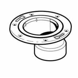 IPEX 103644 Offset DWV Closet Flange, 4 x 3 in Pipe, ABS