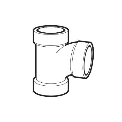 IPEX 192126L DWV Sanitary Tee, 2 x 2 x 1-1/2 in, Hub, PVC