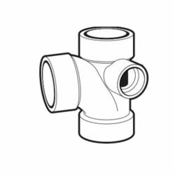 IPEX 192148R DWV Sanitary Tee With Right Side Inlet, 3 x 3 x 3 x 2 in, Hub, PVC