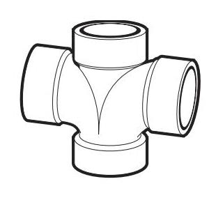 IPEX 192188 DWV Double Sanitary Tee, 2 x 1-1/2 in, Hub, PVC