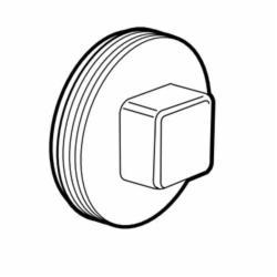 IPEX 193051S DWV Cleanout Plug, 1-1/2 in, MNPT, PVC
