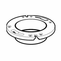 IPEX 193631 1-Piece DWV Closet Flange Without Molded Test Plate, 4 x 3 in Pipe, PVC