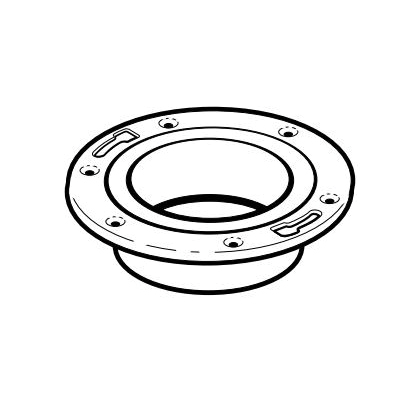 IPEX 193611M Adjustable DWV Closet Flange With Adjustable Metal Ring, 4 in Pipe, PVC