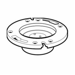 IPEX 193632 1-Piece DWV Closet Flange With Molded Test Plate, 4 x 3 in Pipe, PVC
