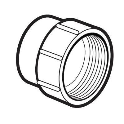 IPEX 193701S DWV Fitting Cleanout Adapter, 1-1/2 in, Spigot x FNPT, PVC
