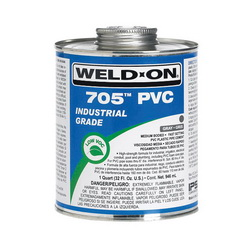 Weld-On® 705™ 10089 Low VOC Medium Bodied Fast Setting Cement With Applicator Cap, 1 qt Metal Can, Syrupy Liquid, Clear, 0.9611 at 23 deg C
