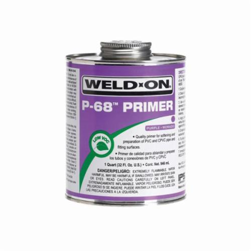 Weld-On® P-68™ 10212 Primer With Applicator Cap, 1 pt Can, Purple