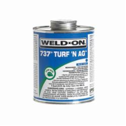 Weld-On® 737™ Turf N Ag™ 10990 PVC Speciality Cement With Applicator Cap, 1 pt Can, Medium Syrupy Liquid, Blue Fade to Clear, 0.924