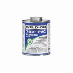 Weld-On® 782™ 14021 Plumbing PVC Cement With Applicator Cap, 1 qt Can, Heavy Syrupy Liquid, Gray, 0.963