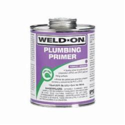 Weld-On® 14030 Plumbing Primer With Applicator Cap, 1 qt Can, Clear