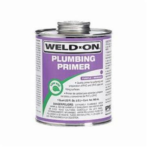 Weld-On® 14026 Plumbing Primer With Applicator Cap, 1 pt Can, Purple
