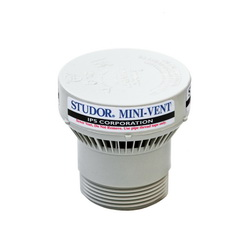 STUDOR® MINI-VENT® 20341 Adapter, PVC, Domestic