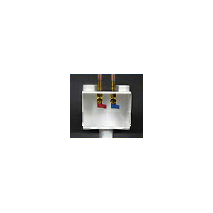 Water-Tite DU-ALL™ 10 N 1™ 85125 Dual Drain Washer Box With Quarter Turn Valve, Domestic