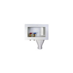 Water-Tite 87378 Right Drain Wide Mouth Washing Machine Outlet Box With Quarter Turn Valve, Domestic