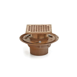 Smith® 2005-P Floor Drain With 1/2 in Adjustable Strainer Head, 3 in, Trap Primer