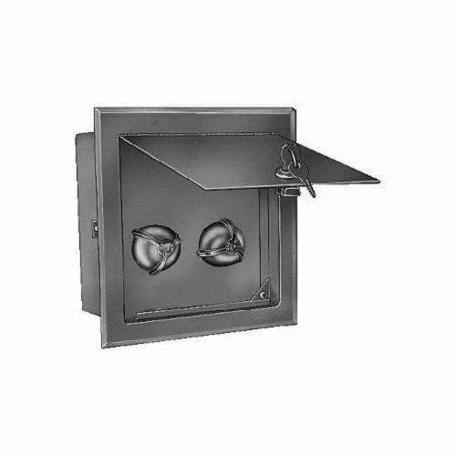 Smith® 3380 Water Supply Control Box With Key Lock and Cover, For Use With Flushing Rim and Can Washing Drain, 304 Stainless Steel