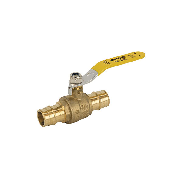Jomar Valve® 104-524PG 2-Piece Ball Valve, 3/4 in, Expansion PEX, Brass Body, Standard Port
