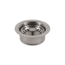 Jomar Valve® Push-N-Seal II™ 300-021CLAM Basket Strainer, For Use With 400 Grade Brushed Stainless Steel Sink Strainer, 304 Stainless Steel, Brushed Stainless Steel