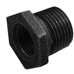 Jones Stephens™ B1440059 Concentric Hex Bushing, 1/2 x 1/4 in, MNPT x FNPT, Steel, Black