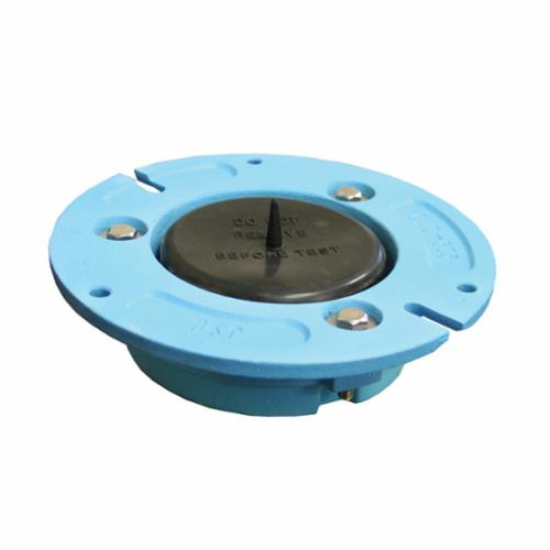 Jones Stephens™ C40503 Closet Flange With Test Cap, 3-13/16 in ID x 7-3/16 in OD, 3 x 3 in Pipe, Cast Iron