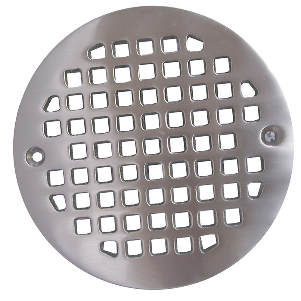 Jones Stephens™ C6087BN Round Heavy Duty Strainer, For Use With D50001 Tile Shower Drain, 4-1/4 in, Cast Brass