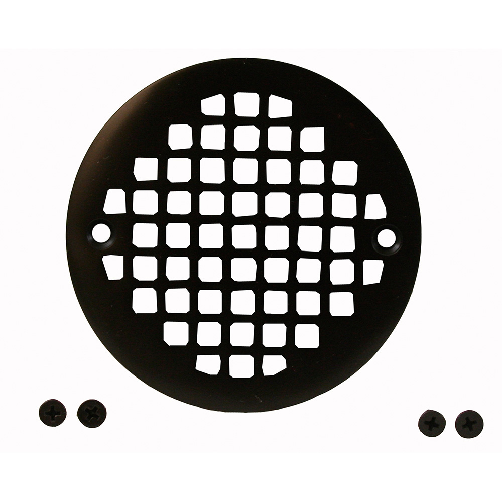 Jones Stephens™ C6087RB Round Heavy Duty Strainer, For Use With D50001 Tile Shower Drain, 4-1/4 in, Cast Brass