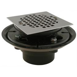 Jones Stephens™ D50334 Floor/Shower Drain, 2 x 3 in, Solvent Weld, 4 in, ABS Drain, Domestic