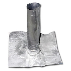 Jones Stephens™ R70150 Roof Flashing With Flange, 8 in L x 10 in W Base, 1-1/2 in Pipe, Lead, Domestic