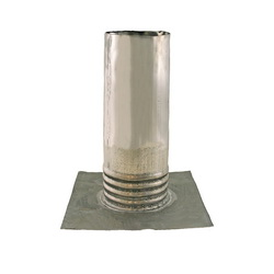Jones Stephens™ R70200 Roof Flashing With Flange, 8 in L x 10 in W Base, 2 in Pipe, Lead, Domestic